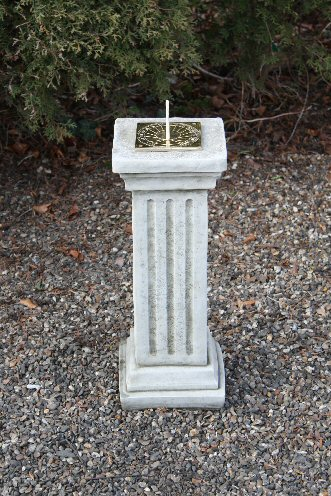 KSD24 Medium Fluted Column Sun Dial